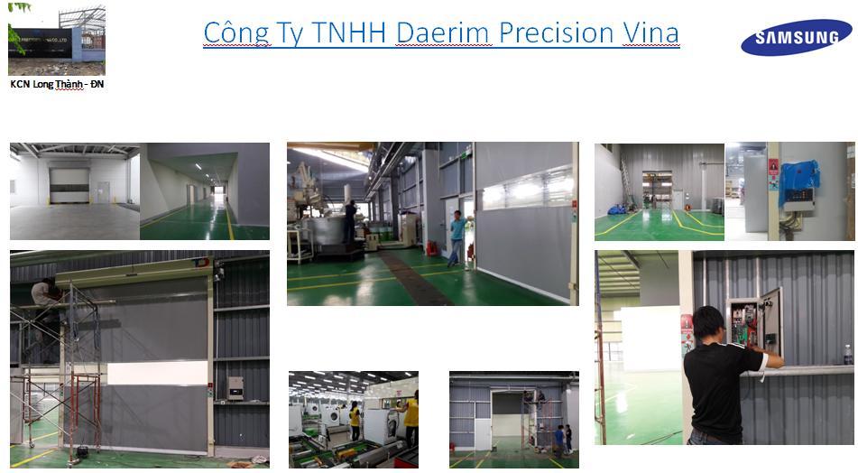 Lắp Đặt Cửa Tốc Độ Cao công Ty Daerim Precision Vina